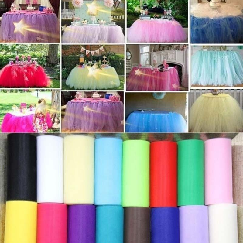 "6/"" 25Yds Fabric Rolls Tutu Tulle Spool Dress Wrap Wedding Party Supplies Decor"