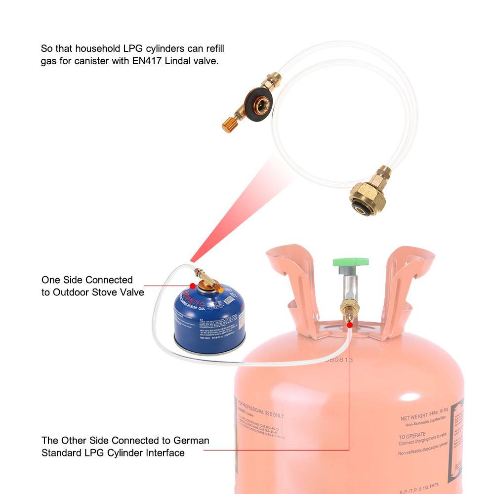 Outdoor Camping Gas Propane Refill Adapter Flat Cylinder Tank Coupler Adapt TLEA
