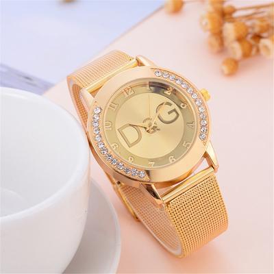 DQG Ladies Watches Ladies Belt Watch Surface Diamond Korean Fashion Casual Women's Watch Women Clock Creative Gift Brand #N03