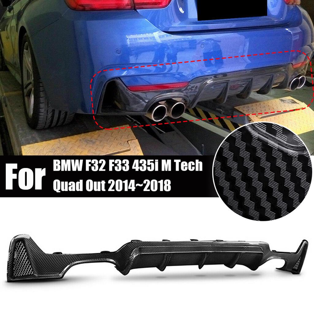 Rear Bumper Diffuser For BMW F32 F33 435i M Tech Quad Out 2014-2018