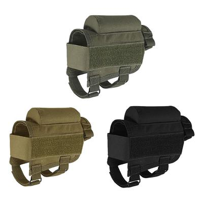 Tactical Rifle Butt Stock Cheek Rest Pad Left//Right Hand Ammo Carrier Pouch Bag