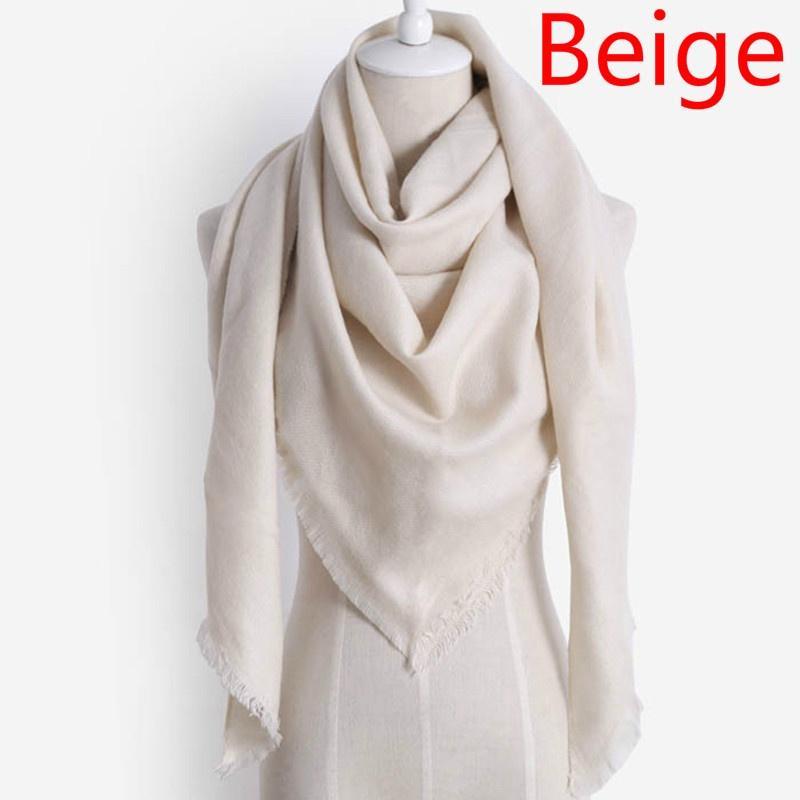 Women Winter Scarf Imitation Cashmere Scarf Scarves Triangle Blanket Shawls LG