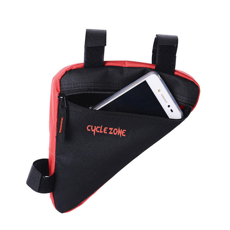 Triangle Cycling Bike Bicycle Front Tube Frame Pouch Bag Holder Saddle A