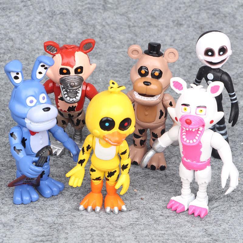 6pcs Five Nights At Freddy/'s FNAF Freddy Action Figures Kid Children interesting