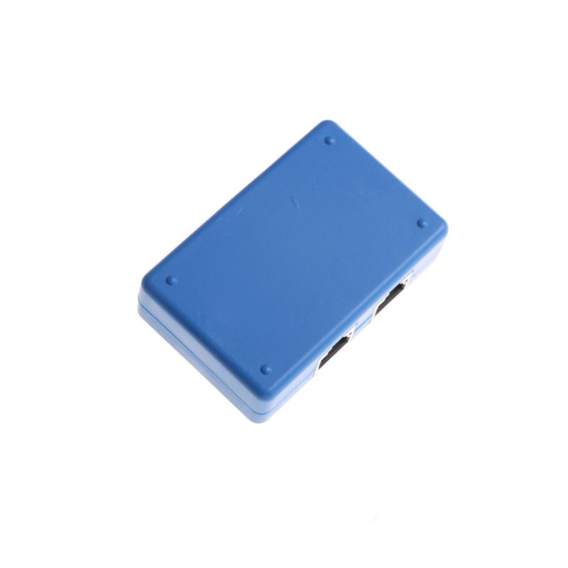 mini 2 Ports Rj45 Inner//External Network Switch Splitter Box Avoid Cable PlugES