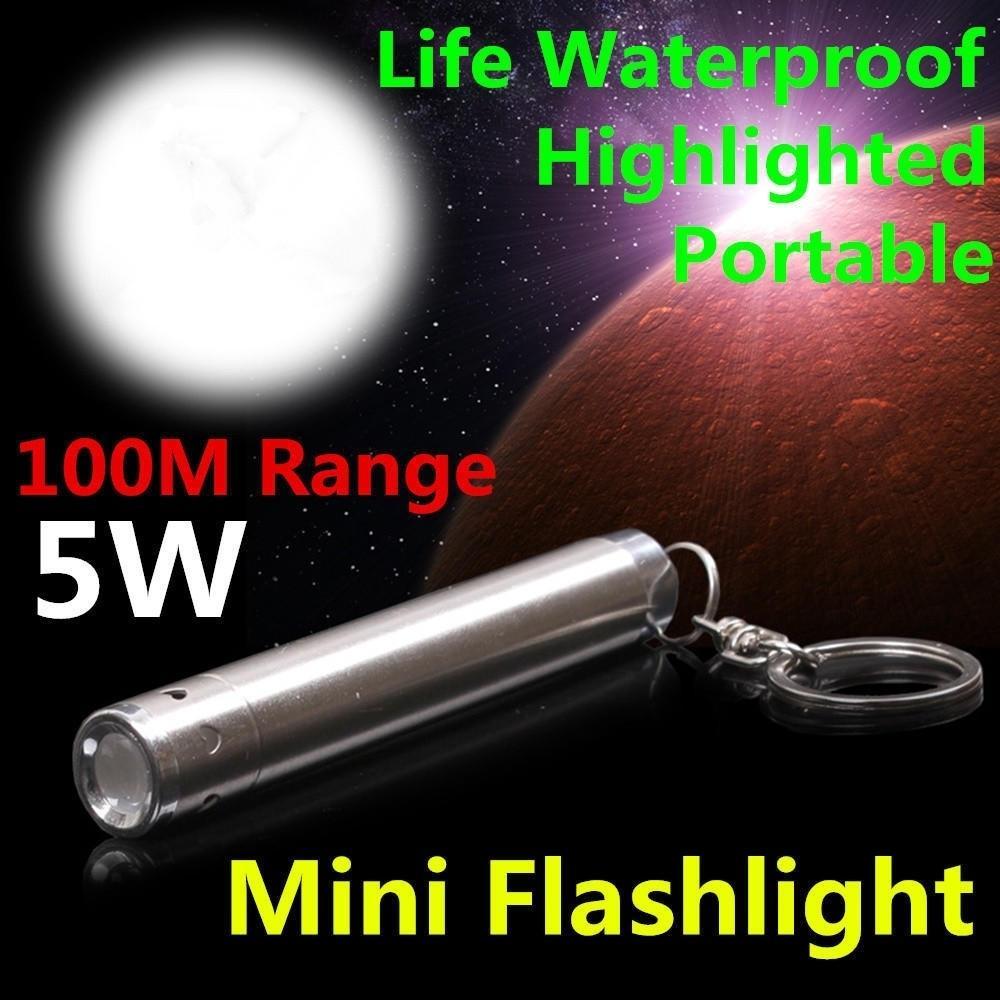 Нержавеющей стали Keychain фонарик светодиодный pen Light водонепроницаемый тактический фонарик светодиодные фонари фото