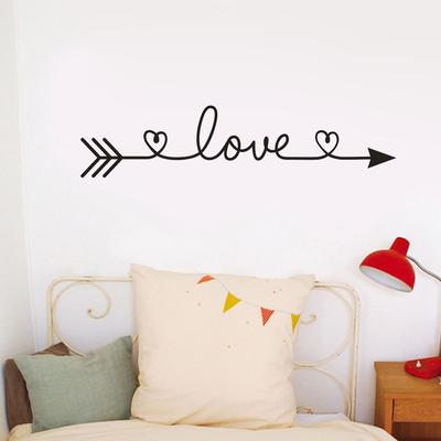Every Love Story Is Beautiful Home Wall Sticker Bedroom Decal Decor 56*29 CM