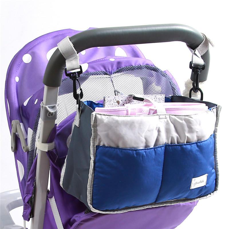 Pram Pushchair Stroller Storage Basket Nappy Diaper Carriage Hanging Mummy Bag