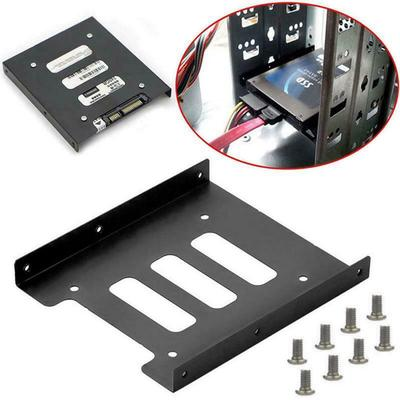2.5In SSD HDD to 3.5In Metal Mounting Adapter Hard Drive Enclosure Bracket Dock