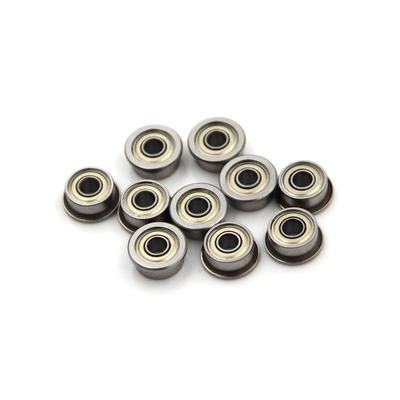 10PCS F693ZZ 3*8*4mm Miniature Deep Groove Ball Flanged Cup Bearings CY