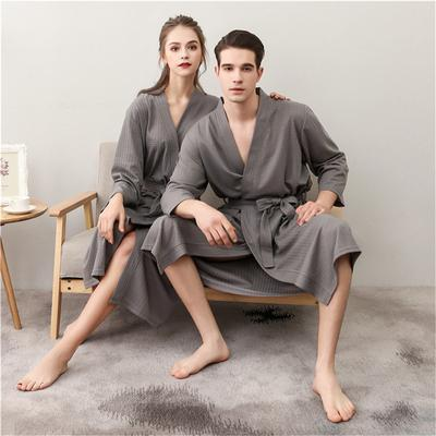 c9e2927e45 Summer Suck Water Kimono Bath Robe Men Plus Size Sexy Waffle Bathrobe Mens  Dressing Gown