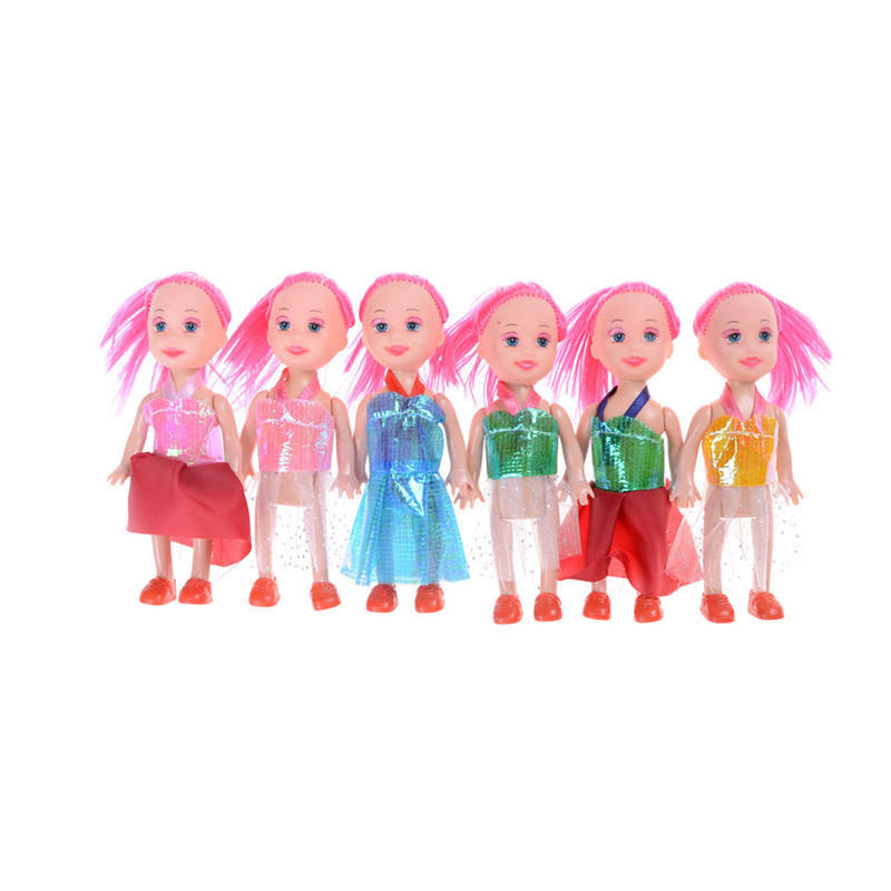 3X 3inch Dolls Toys Cute Kelly Dolls With Clothes Kids Gift Home Cake DecorD TO