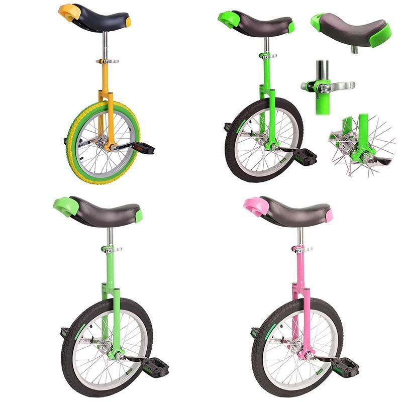 18in Unicycle Wheel Balance Uni Cycle Fun Bike Fitness Circus Cycling SILVER