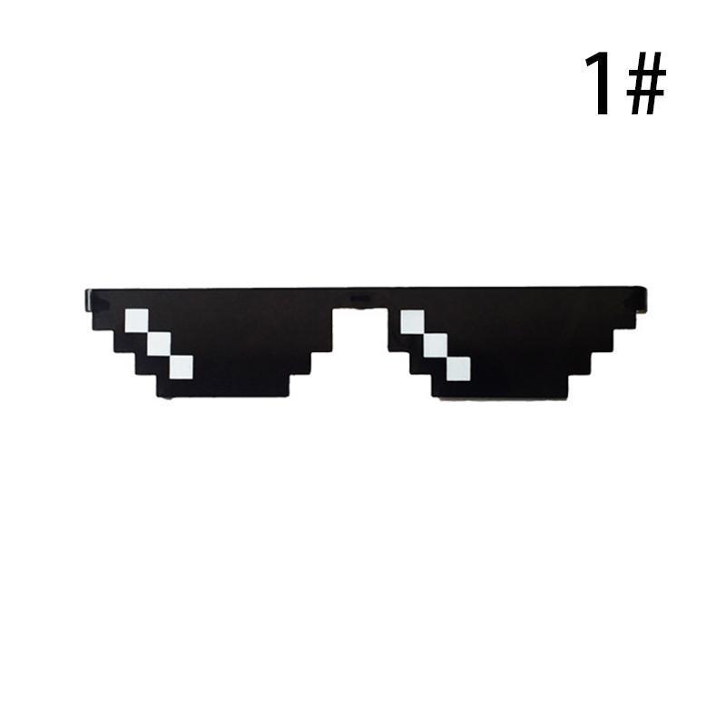 2PC Women Men Thug Life Eye Glasses 8 Bit Pixel Deal With IT Sunglasses Eyewear
