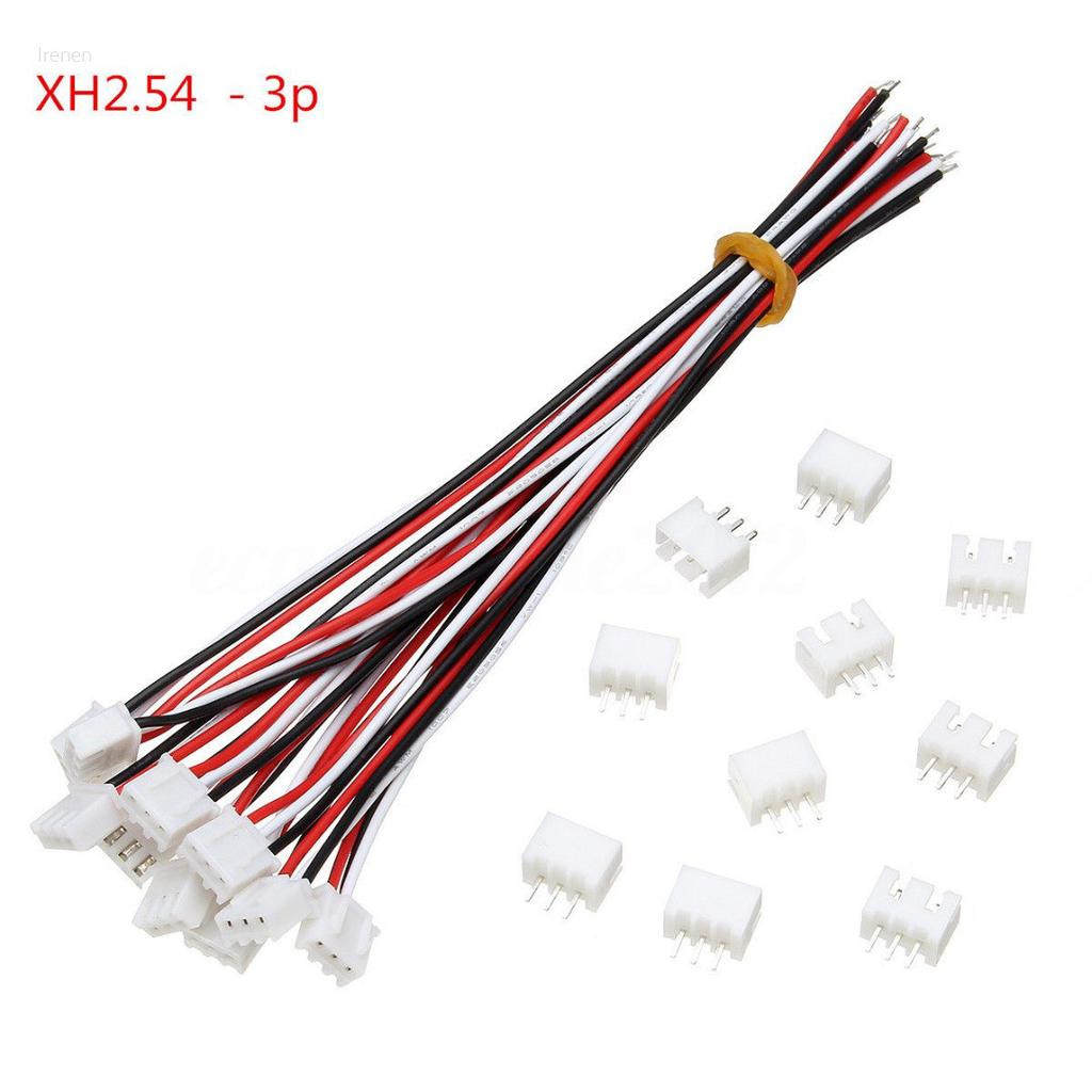 10x  XH2.54 2 Pin Connector Plug Wire Cable 20cm LengthLD