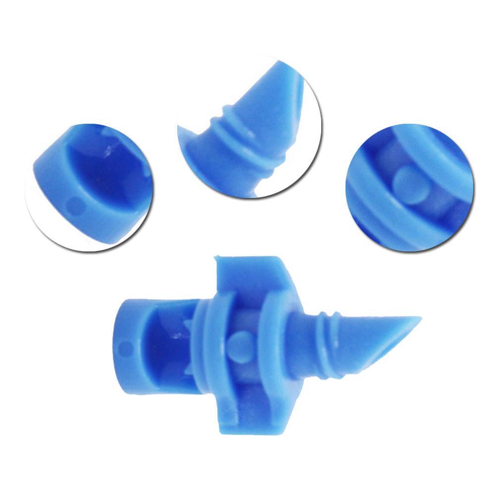 50x Adjustable Flow Pressure Compensating Drip Emitter Shunt Irrigation Dripper