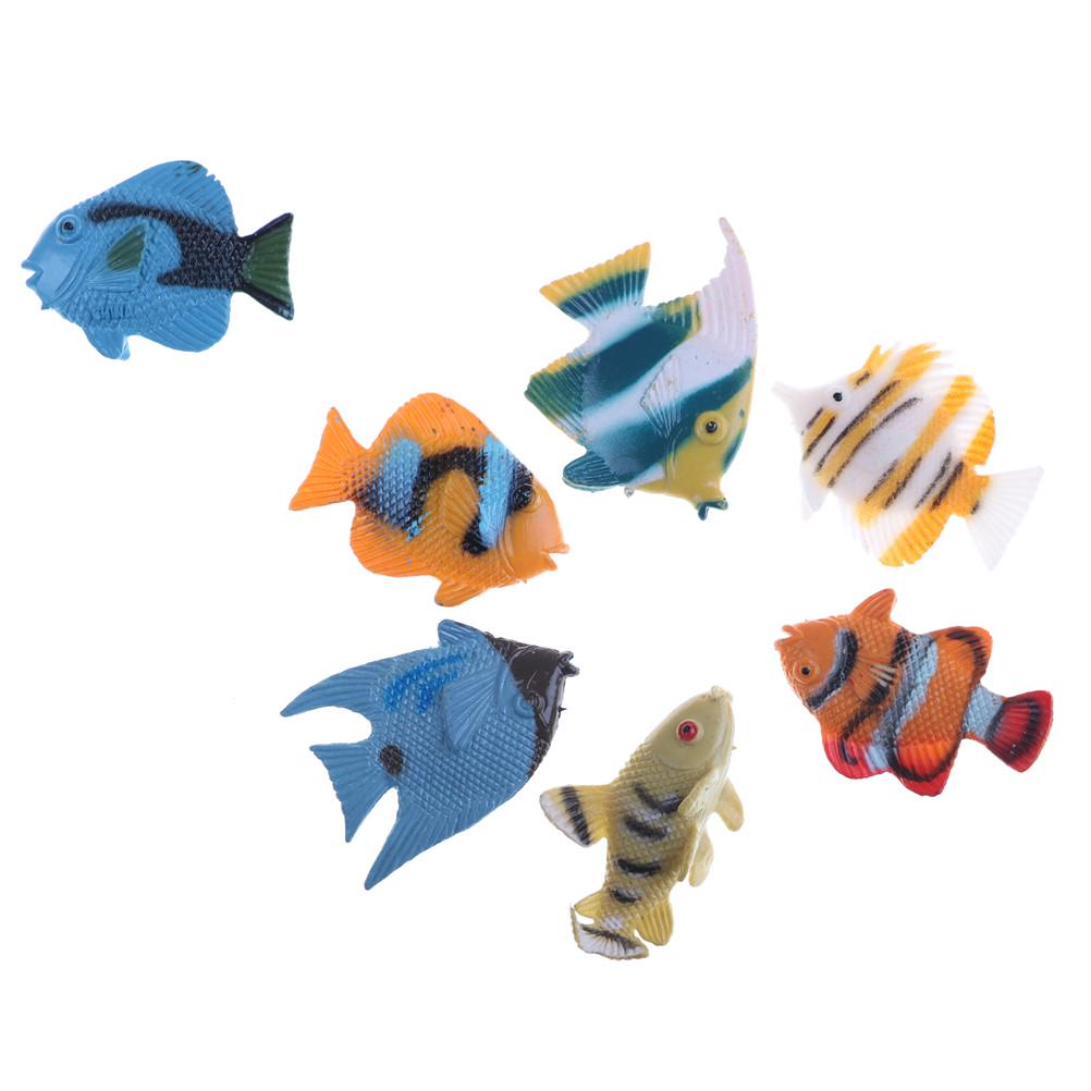 12 pcs Mini Tropical Ocean Fish Toy Gift Sea Life Model Pool Education Toy/_TI UL