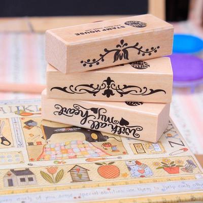 e1fc8e626920c0 Albumy Rekwizyty 5 Style mogą wybrać ręcznie piśmienne Scrapbook Drewniane  pieczątki zdjęcie Gumowa pieczęć