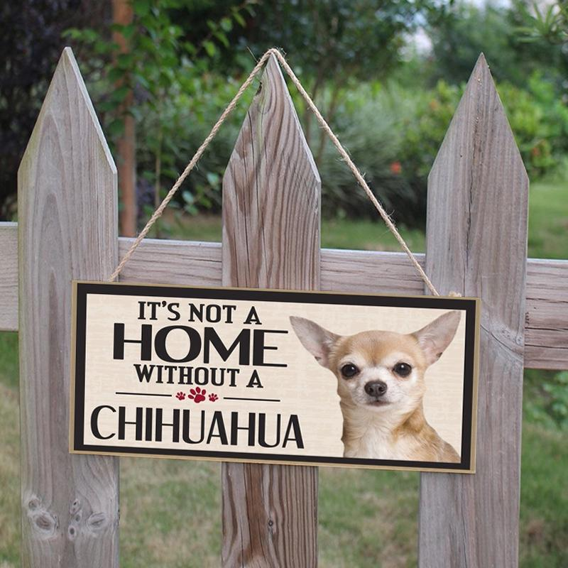 decoration warning sign with dog Door sign entrance sign sign with Chihuahua dog