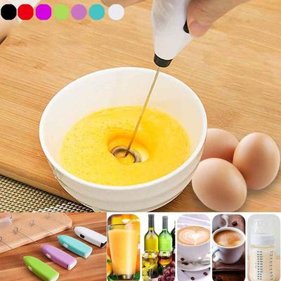 Electric Mini Handle Cooking Eggbeater Juice Drinks Milk Frother Coffee Stirrer Foamer Whisk Mixer