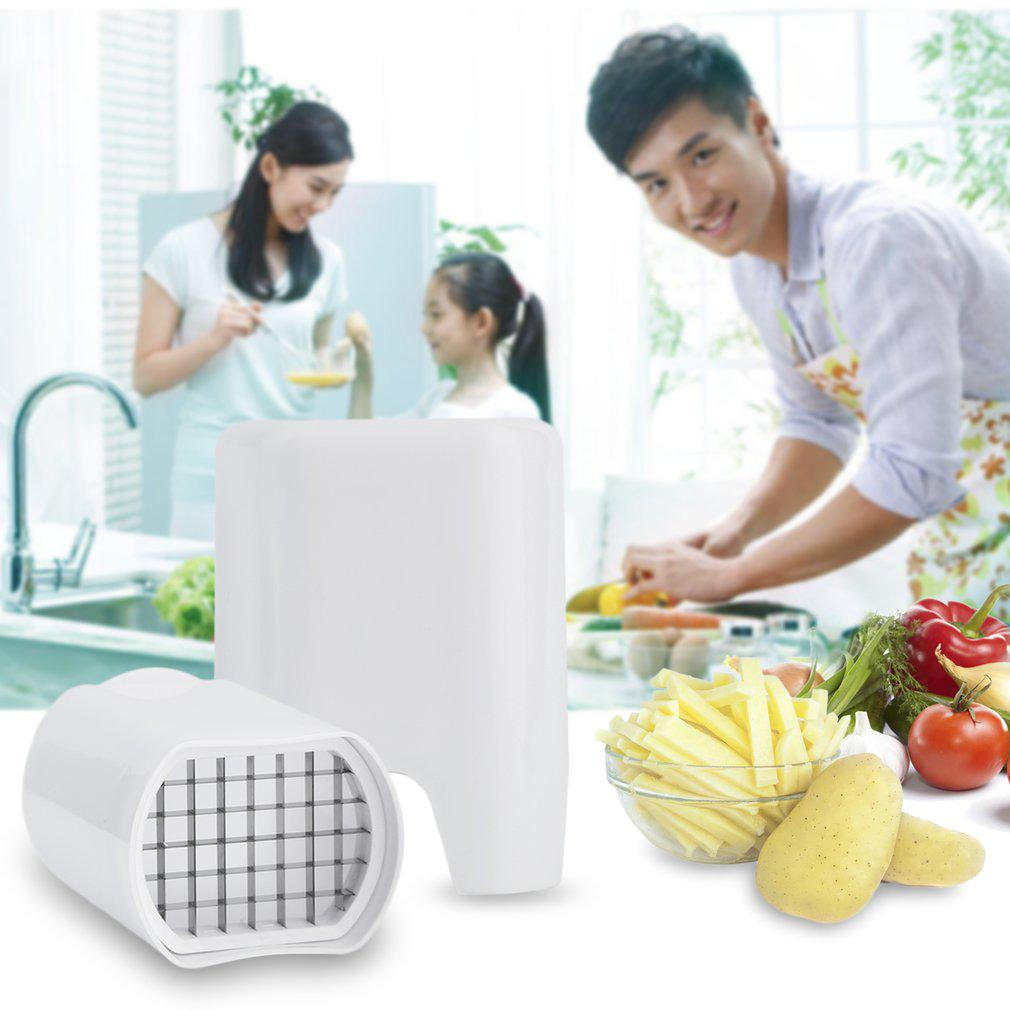 One Step French Fry Fries Cutter Potato Vegetable Fruit Slicer Kitchen Tool