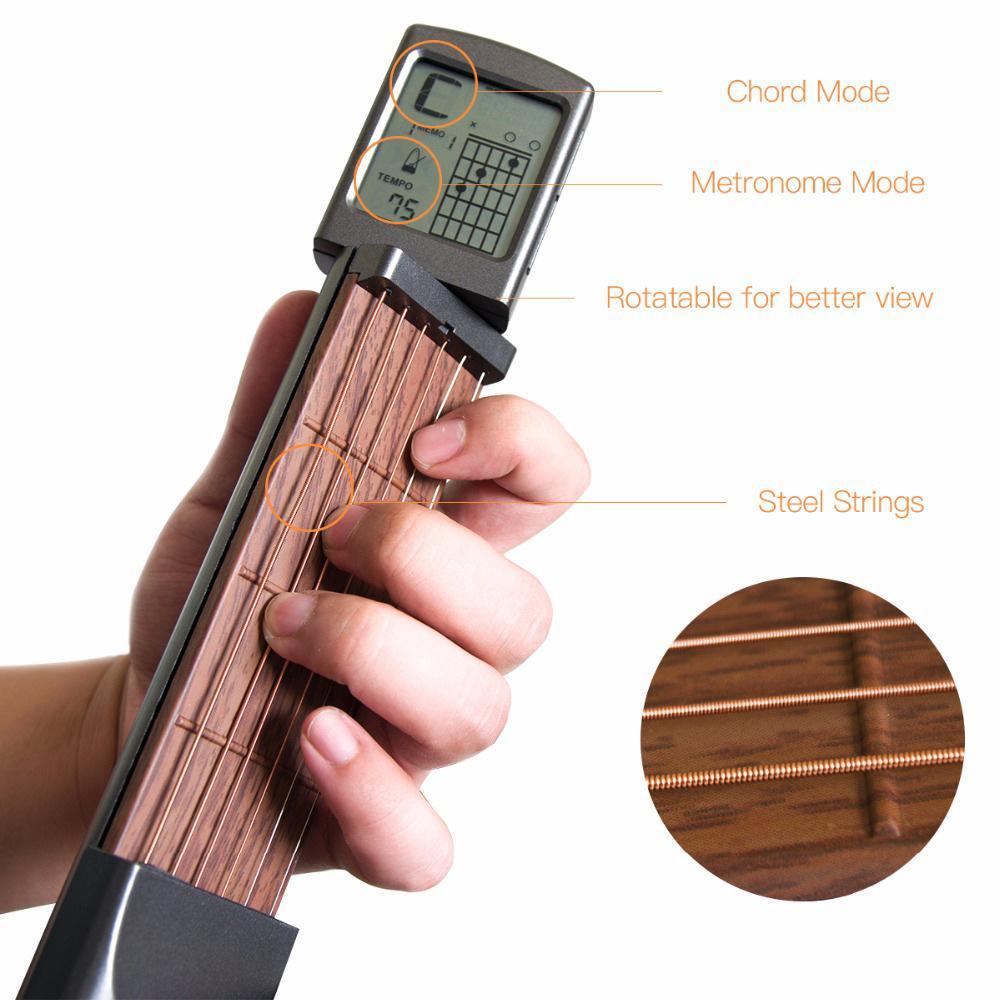 Tasche Gitarre Praxis Werkzeug 6-String-Modell für Anfänger Portable Set