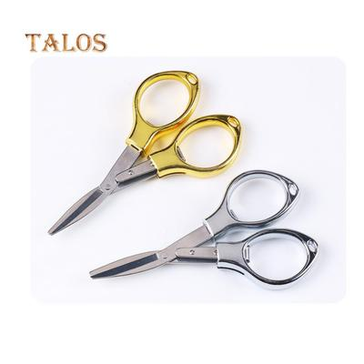 Mini Folding Stainless Steel Scissors Keychain Fishing Camping Travel Cutter Health