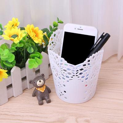 Flower Hollow Brush Storage Pen Pencil Pot Holder Container Desk Organizer Gifts