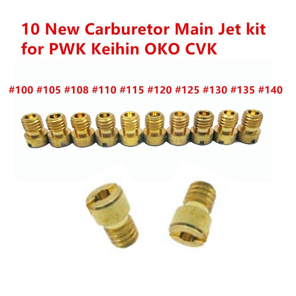 20PCS Set di ricambio per PWK PE CVK carburatore getti principali w//Pilota Moto Jets Carb Jet lega di alluminio lento