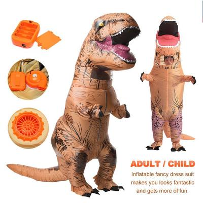 Premium Inflatable Dinosaur Costume Adult Jurassic World Park Trex T Rex Blow