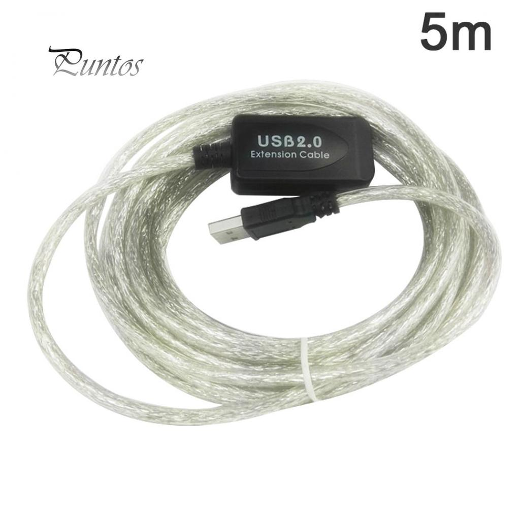 5//10//15//20m USB 2.0 Active Extension Repeater Cable Signal Booster Extended Cord