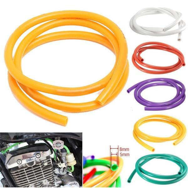 2 pcs Red 1 Meter Fuel Oil Gas Line Hose Colorful Gas Hose Tube Pipe Petrol For Motorcycle Dirt Pit Bike ATV