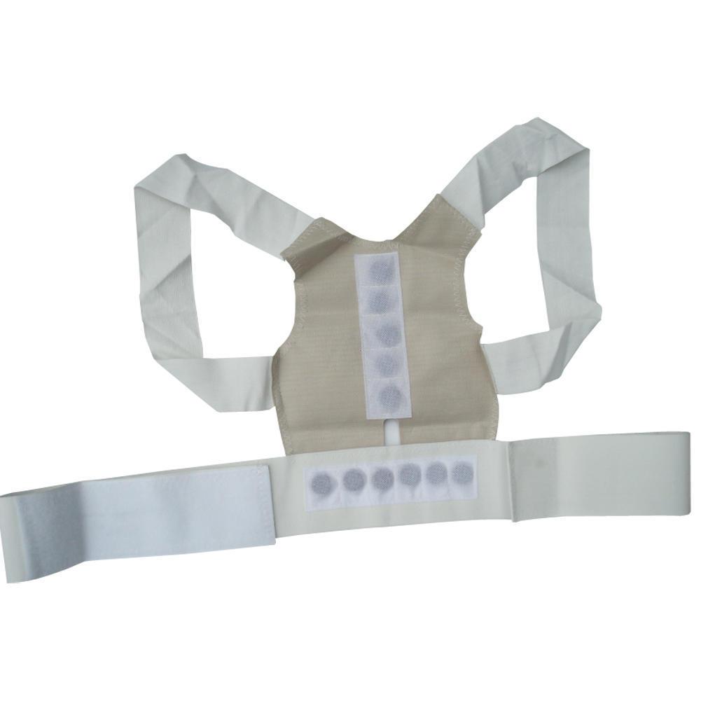 Power Magnetic Posture Humpback Support Corrector Back Brace Belt Corset 1 Of 5
