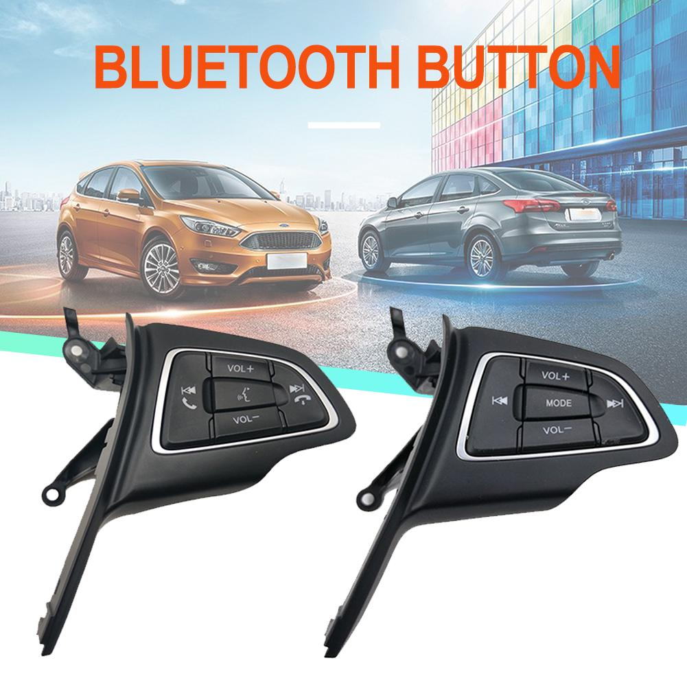 RJJX Fit For Ford Focus Mk3 2015-2017 Kuga 2017 Cruise Control Switch Multifunction Steering Wheel Button Bluetooth O Button Color : Without LIM