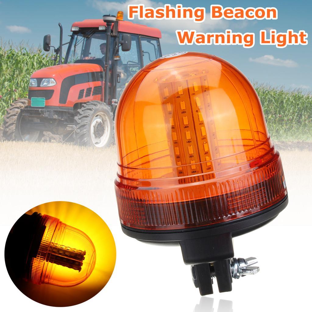 Spinning Flash LED Amber//Orange Warning Light Signal Beacon Lamp Truck Lorry Car