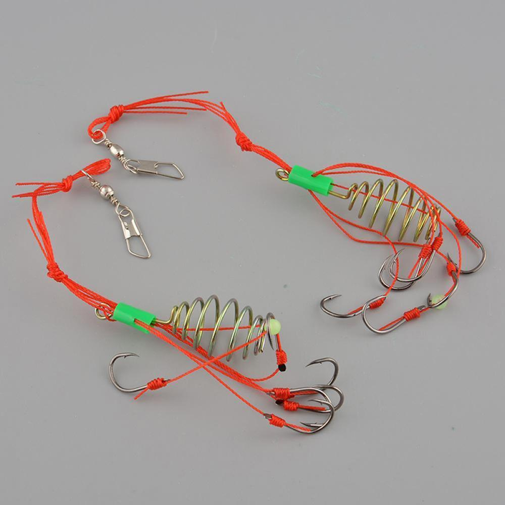 Details about  /Prettyia 4 Set Small Explosion Fishing Hooks Group Carp Fishing Barbed Hook