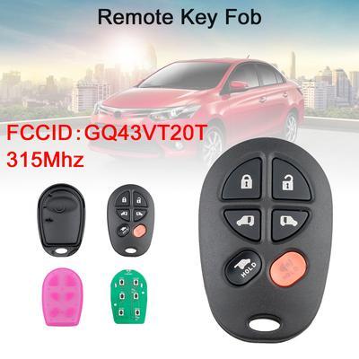 For 2011 2012 2013 Toyota Sienna Keyless Entry Car Remote Key Fob Gq43vt20t