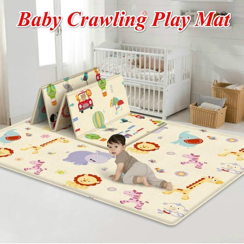 180X200CM Foldable Baby Crawl Mats Thicken Newborn Infant Play Mat Carpet Rugs