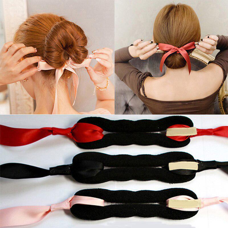 Женщины аксессуары для волос Лента Bowknot Волосы Band Мода Девушки Волос Завёры Бун Оголовье фото
