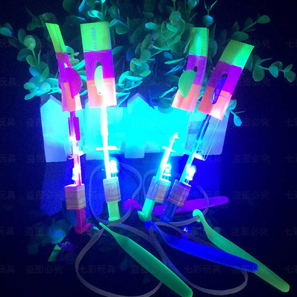 2Pieces LED Lights Up Flashing Dragonfly Glow Flying Dragonfly Party Kids Toy