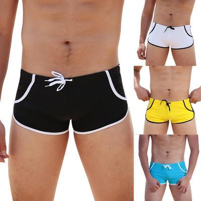 Mens Swim Boxers Briefs Beach Swimming Shorts Trunks Swimwear Bikini Swimsuit XL