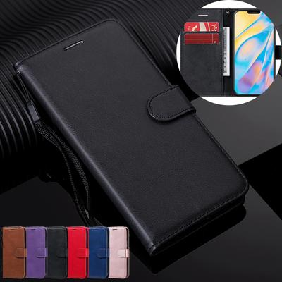 Wallet Leather Flip Soft Silicone Card Slots Cover Case For iPhone Samsung Xiaomi Redmi Huawei Oppo Realme Nokia One Plus Google Moto Case