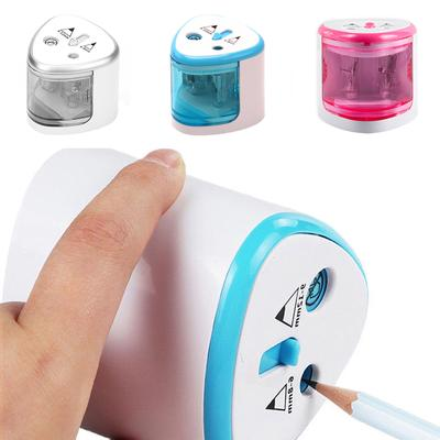 Electric Automatic Pencil Sharpener Dual Hole School Stationery Battery Operated