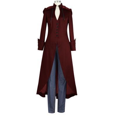 Осінь зима жінок Vintage пальто косплей трикотажного одягу драми Толстовка  плащ 6e2d672da9491