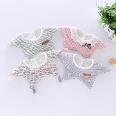 Newborn Baby bibs 360° Rotation Cartoon Feeding Saliva Towel Dribble Cotton BibL