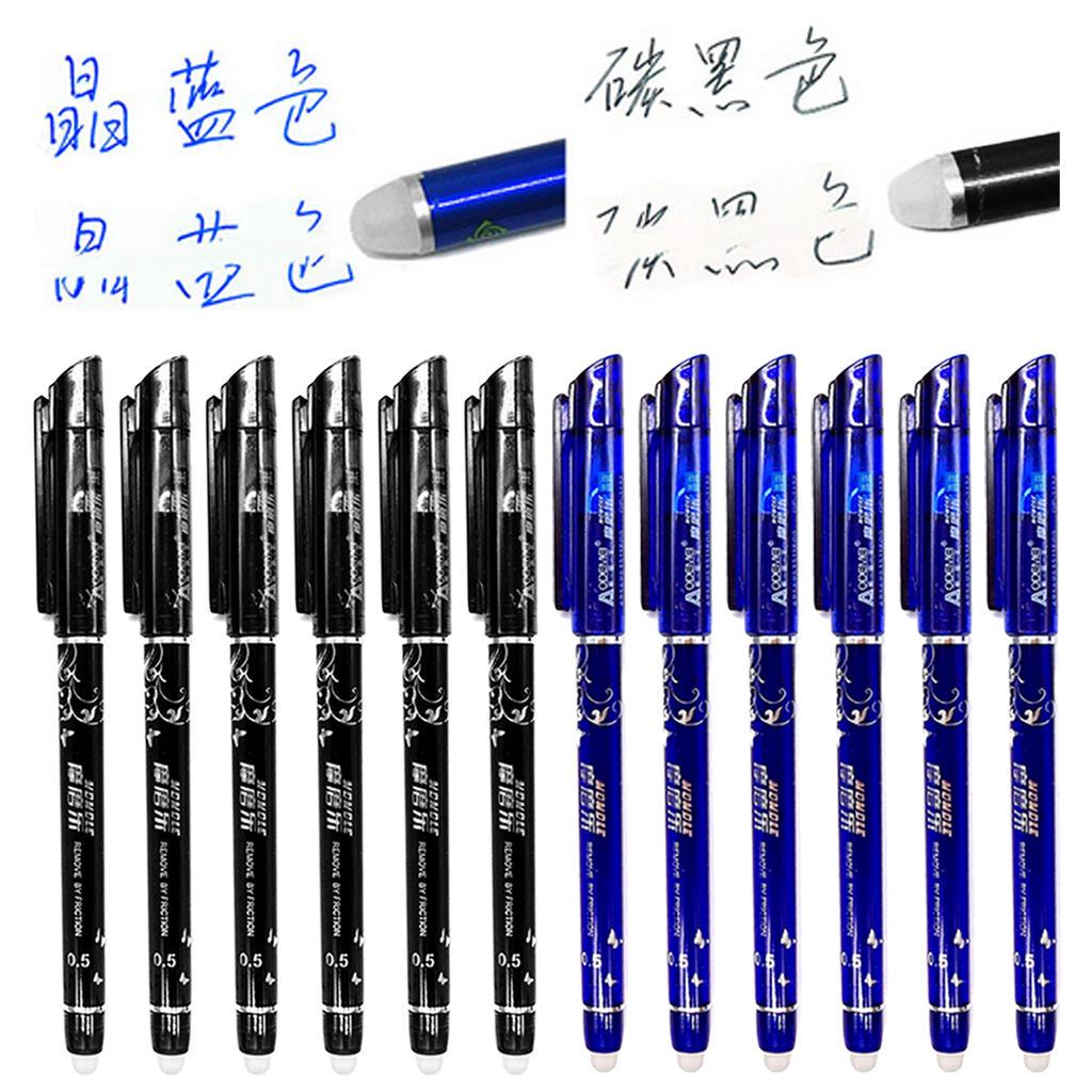 1 x Friction 0.5mm Pen Gel Ink Friction Erasable Magic Blue Student Stationery
