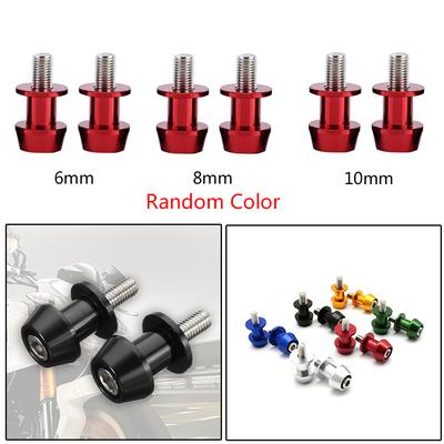 2pcs Motorcycle Aluminum 6/8/10mm CNC Swing Starting Arm Spool Slider Screw  Nail
