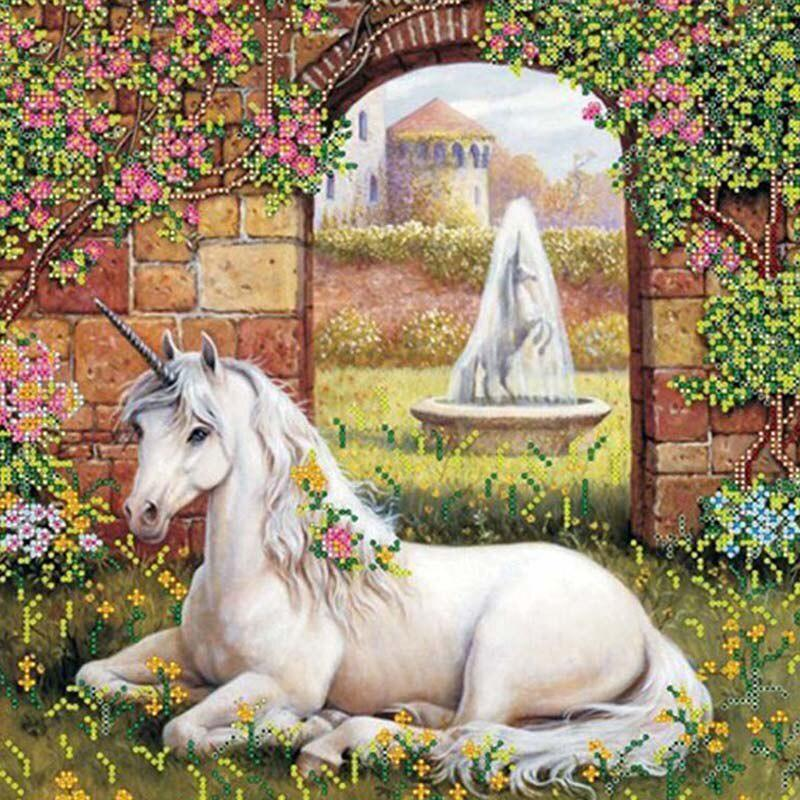 Princess Cross Stitch Diamond Embroidery Home Decor NEW 2021 Garden Unicorn 5D DIY Full Drill Square Round Diamond Painting Kit