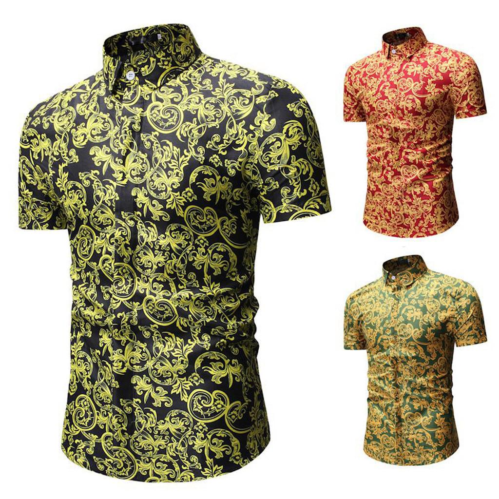 Fashion Mens Summer New Leisure Tops Letter Splicing Printing Short Sleeve T-Shirt Blouse