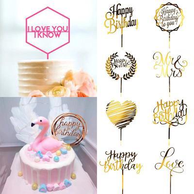10Pcs//Set Baby One Year Old Birthday Cake Insert Card birthday party Decor Card